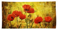 Colorado Poppies Bath Towel by Tammy Wetzel