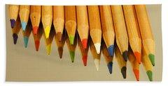 Colored Pencils Hand Towel