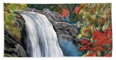 Colorfall Hand Towel by Luis F Rodriguez