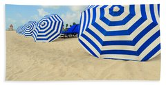 Colorful Beach Umbrellas Bath Towel