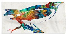 Colorful Bird Art - Sweet Song - By Sharon Cummings Hand Towel by Sharon Cummings