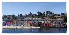Colorful Buildings And Beach Bath Towel