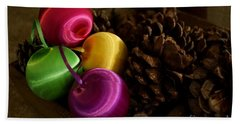 Colorful Christmas Balls Hand Towel