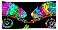 Colorful Companions Hand Towel by Nick Gustafson