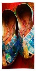 Colorful Footwear Juttis Sales Jaipur Rajasthan India Bath Towel