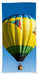Colorful Hot Air Balloon Over Vermont Hand Towel