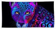 Colorful Jaguar Hand Towel