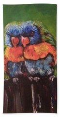 Colorful Parrots Bath Towel