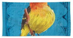 Colorful Songbirds 4 Bath Towel