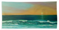 Colorful Sunset Beach Paintings Hand Towel