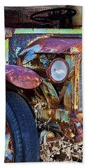 Colorful Vintage Car Bath Towel by Phyllis Denton