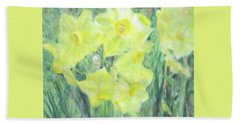 Colorful  Yellow Flowers Bath Towel