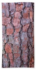 Colors And Patterns Of Pine Bark Hand Towel by Connie Fox