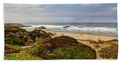 Colors And Texures Of The California Coast Hand Towel