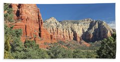 Bath Towel featuring the photograph Colors Of Sedona by Penny Meyers