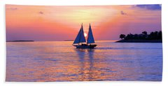 Colors Of Sunset Hand Towel by Iryna Goodall