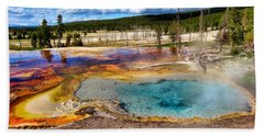 Colors Of Yellowstone National Park Hand Towel