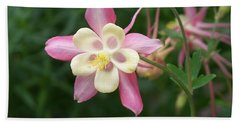 Hand Towel featuring the photograph Columbine by Kathryn Meyer