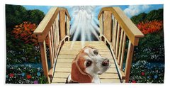 Come Walk With Me Over The Rainbow Bridge Hand Towel