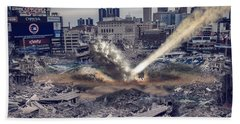 Hand Towel featuring the photograph Comerica Park Asteroid by Nicholas  Grunas