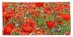 Commemorative Poppies Bath Towel