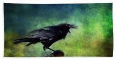 Common Raven Bath Towel