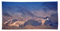 Comox Glacier And Morning Mist Hand Towel