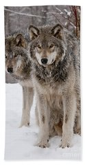 Companions Hand Towel by Wolves Only