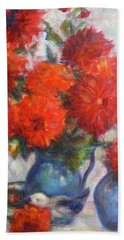 Complementary - Original Impressionist Painting - Still-life - Vibrant - Contemporary Bath Towel