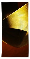 Composition In Gold Hand Towel