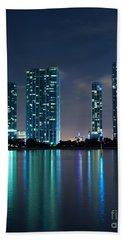 Hand Towel featuring the photograph Condominium Buildings In Miami by Carsten Reisinger