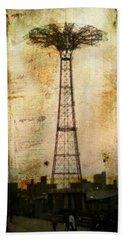 Coney Island Eiffel Tower Bath Towel
