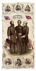 Confederate Generals And Flags Hand Towel