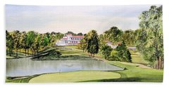 Congressional Golf Course 10th Hole Bath Towel by Bill Holkham