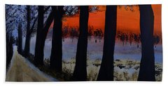 Conrad Road Sunrise Hand Towel by Dick Bourgault