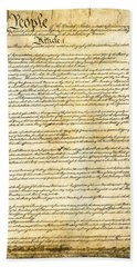 Constitution Of The United States Bath Towel