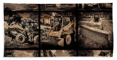 Construction Collage-1 Hand Towel