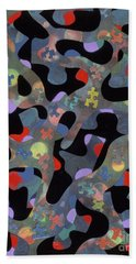 contemporary abstract art - Inside Outside Bath Towel