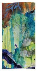 Hand Towel featuring the painting Continuum by Robin Maria Pedrero