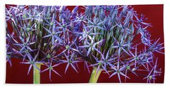 Hand Towel featuring the photograph Flowering Onions by Roselynne Broussard