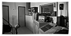 Control Room In Alcatraz Prison Bath Towel