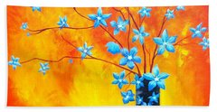 Cool Blue On Fire Hand Towel