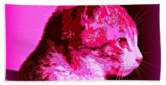 Hand Towel featuring the photograph Cool Cat by Clare Bevan