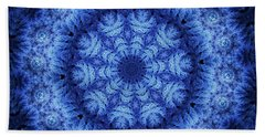 Hand Towel featuring the digital art Cool Down Series #1 Snowflake by Lilia D