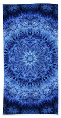 Hand Towel featuring the digital art Cool Down Series #2 Frozen by Lilia D