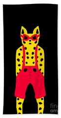 Cool For Cats In Red Dungarees Bath Towel