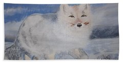 Cool Fox Hand Towel by Francine Heykoop