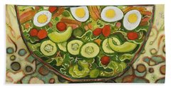 Cool Summer Salad Hand Towel by Jen Norton
