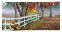 Coosaw Horse Fence Hand Towel