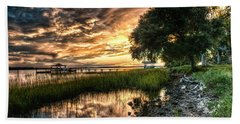Coosaw Plantation Sunset Bath Towel